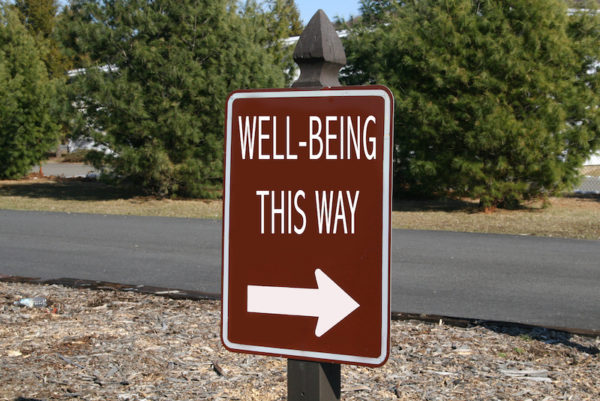 Well being road sign